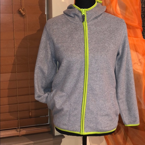 Old Navy Other - Old Navy gray and lime fleece hoodie